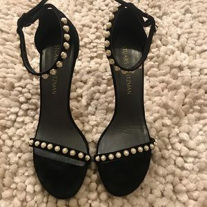 Stuart wietzman pearl black suede sandal (no box)